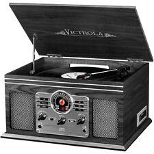 New listing Victrola 6-in-1 Nostalgic Bluetooth Record Player w/Cd/Cassette/Radio Graphite