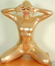 Metallic Gold Lycra Spandex Mermaid Bodysuit Zentai Suit Halloween Gift S-XXL