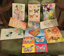 ~ 10 Greeting Note Cards ~ Blank Inside ~ With Envelopes ~ No Duplicates