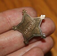 Vintage Oakside School Peekskill NY Star Pin badge Junior Sheriff Sterling Brass