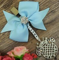 Personalised stunning pram charm in Baby Blue  boys and girls