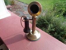 Antique Western Electric Candlestick Brass Telephone Pat Appd For 1904 USA
