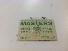 1967 MASTERS TOURNAMENT BADGE AUGUSTA NATIONAL GOLF CLUB ROBERT TYRE JONES JR
