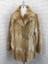 Vintage 1950s Ladies Honey Blonde Mink Musquash Fur Retro Jacket Coat 12/14