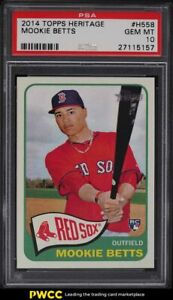 2014 Topps Heritage Mookie Betts ROOKIE RC #H558 PSA 10 GEM MINT