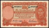 ND (1942) Australia 10 Shillings - 10/- Banknote * F/50 952021 * aVF * P-25b *
