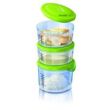 CHICCO Set 3 Contenitori Portapappa Thermos System Easy Meal (2x180ml e 1x300ml)