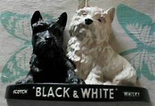 More details for vintage black & white scotch whisky advertising terrier dogs display