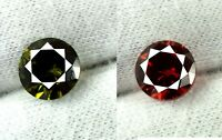 Natural Round Orange Sapphire & Green Tourmaline Gemstone Pair 6.20 Ct Certified