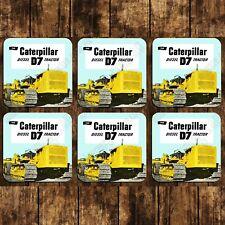 MUG COASTERS - SET OF 6  - CATERPILLAR D7 TRACTOR