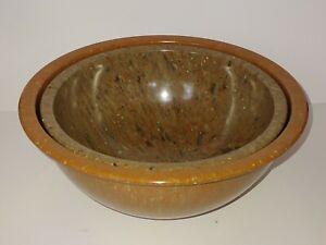 2 Vintage Texas Ware Confetti Melmac Bowls Blue Gray 118 & Red Rust 125.