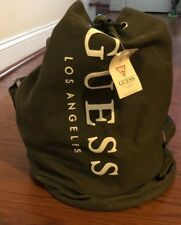 GUESS Los Angeles Canvas Duffle Bag Back Pack Tote Army Type Green