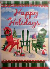 "Large Carson ""Happy Holidays"" Beach Chairs Christmas Porch Flag (28"" x 40"")"
