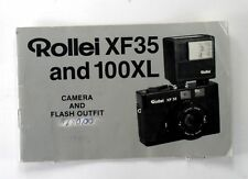 Rollei XF35 & 100XL Orig. Instruction Manual in English