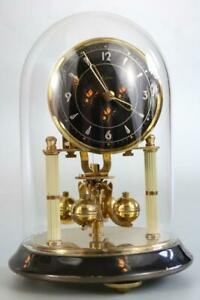 SMALL 400 DAY ANNIVERSARY CLOCK working order GLASS DOME kein GERMANY