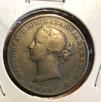1856 PROVINCE OF NOVA SCOTIA 1/2 PENNY QUEEN VICTORIA MAYFLOWER TOKEN KM#5