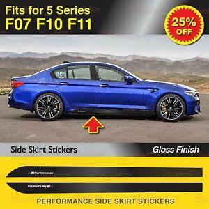 Für BMW F07 F10 F11 5er M Performance Seitenschweller Schweller Aufkleber GLANZ