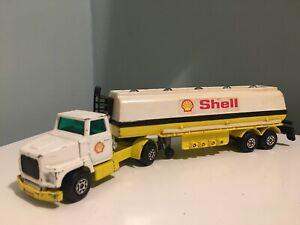 Matchbox Superkings K16 Ford LTS Petrol Tanker Truck Shell Rare Black Plastic