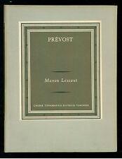 PREVOST ANTOINE F. MANON LESCAUT UTET 1956 GRANDI SCRITTORI STRANIERI III - 66