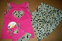 DOLLIE & ME 2PC PINK SKIRT OUTFIT (6) ++ matching set for American Girl Doll