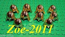 Lego Castle Gold Chrome Helmet 10 pieces NEW!!!