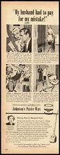 Johnson's Paste Wax Vintage Ad McCall's 1951 (101611)
