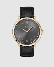 Hugo Boss Essential Black Leather Men's Watch 1513649
