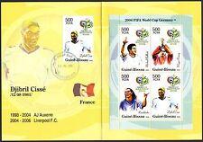 Guinea - Bissau 2005 Soccer Germany 2006 Booklet FDC on st. D. Cisse (France)
