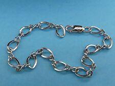 Vintage stg. silver FIGURE 8 CHARM bracelet JMF CO. NEW OLD STOCK SB2408-7 #F