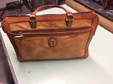 CAGGIANO Italian Tan Leather Bag Brief Case Tote Satchel