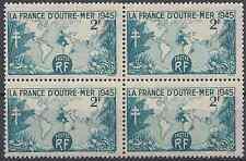 LA FRANCE D'OUTRE MER N°741 BLOC DE 4 NEUF ** LUXE GOMME D'ORIGINE MNH