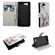 Wallet Card Slot Leather Stand Phone Case Cover For Sony Xperia Z3 Mini Compact