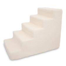 Best Pet Supplies ST220T-L Foam Stairs/Steps 5-Step Lambswool Ramps Stairs Dog