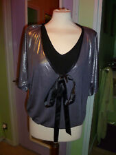 Kid's (15-16 yrs) Metallic Grey Blouse by Bliss (Very Good Condition)