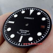 30.4mm black corgeut dial luminous Watch Dial for 2824 2836 Movement D32