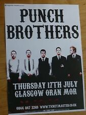 Punch Brothers - Glasgow july 2008 tour concert gig poster