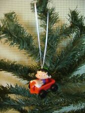 custom christmas tree ornament BOBBY'S WORLD wagon toy vtg car rear mirror charm