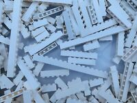 LEGO - Used White Friends Bricks 1x4 1x6 1x8 1x10 Etc / 15 Pieces Per Order
