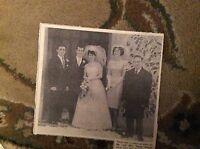 B2-3 ephemera 1963  picture wedding broadstairs carole jarman sergio berrini