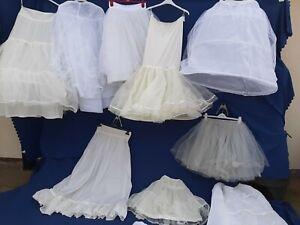 JOB LOT 10 X WEDDING DRESS UNDERSKIRTS NETTING PARTY PROM  BRIDESMAID #1