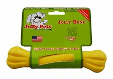 Jolly Pets Bone 6 inch Yellow | Rubber Chew Toy for Dogs