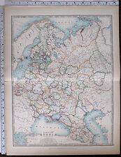 1903 LARGE MAP EUROPEAN RUSSIA CRIMEA POLAND FINLAND KOSTROMA SAMARA