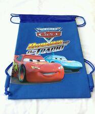 Blue Disney Pixar Cars Backpack Licensed Drawstring Boy's Sling Tote Gym Bag NEW