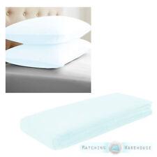 Draps-housses bleue pour le lit Chambre à coucher en 100% coton