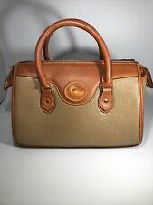 Dooney & Bouke Vintage Taupe Pebbled Leather Satchel/ Handbag