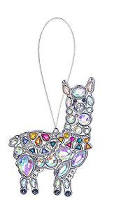 "Ganz Llama Acrylic Aurora Borealis Multicolor Crystal Ornament/Suncatcher, 3.5"""