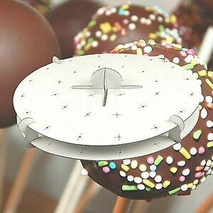 White CAKE POP Display Stand Lollipop Round Cake Holder Birthday Party Wedding