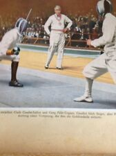 Ephemera Picture 1932 Olympics Fencing Giulio Gaudini Italy Georg Piller Hungary