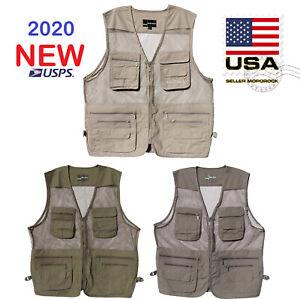 US Mororock Jacket Utility 10 Pockets Photography Hiking Hunting Fishing Vest