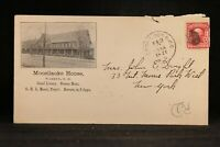 New Hampshire: Warren 1904 Moosilauke House Hotel Building Advertising Cover